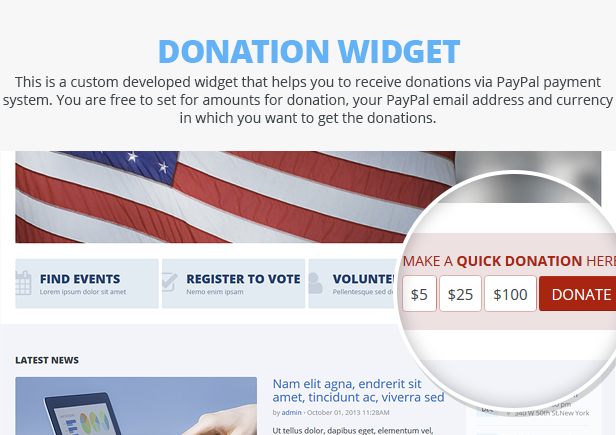 Candidate - Political/Nonprofit/Church WordPress Theme - 13