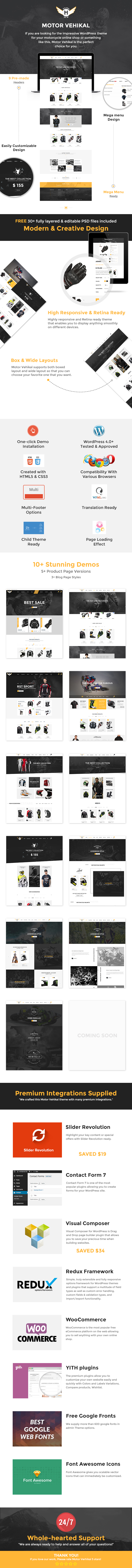 Motor Vehikal - Motorcycle WooCommerce WordPress Theme