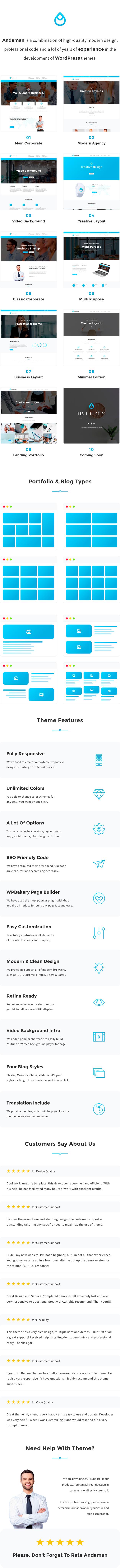 Andaman - Creative & Business WordPress Theme - 1
