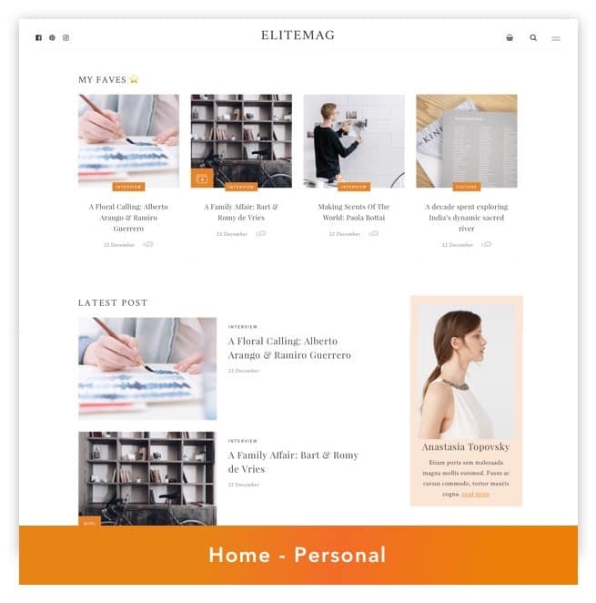 Elitemag - Stylish WordPress Blog and Magazine Theme - 3