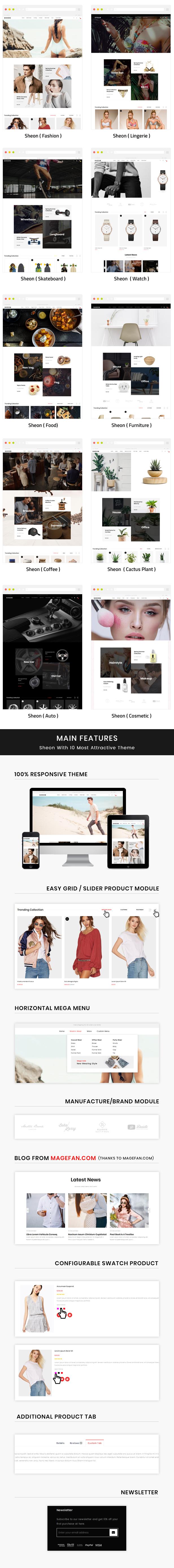 Sheon - Responsive Magento 2 Theme