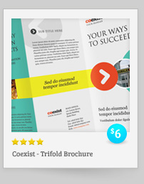Rebellion Trifold Brochure - PSD Template - 8