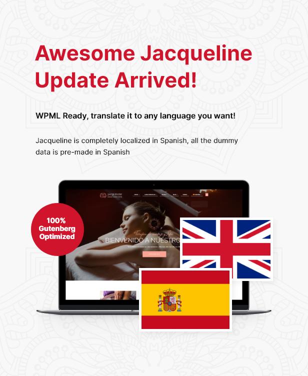 Jacqueline hiszpańskiego lokalizacja + zmiana Gutenberg