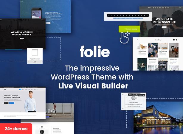 Folie | The WordPress Website Builder by code-less | ThemeForest