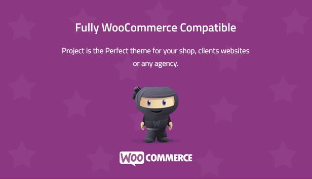 Project - Creative Multipurpose WordPress Theme is woocommerce ready