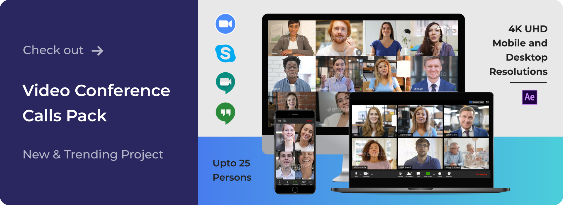 Check out Video Calls Conference Pack