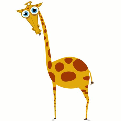 Рисунок жирафа смешного