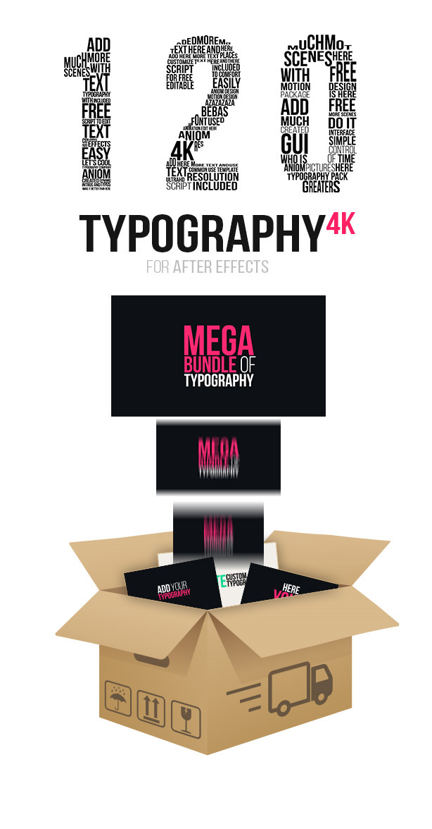Kinetic Typography 4K Package   Typography Tool - 6