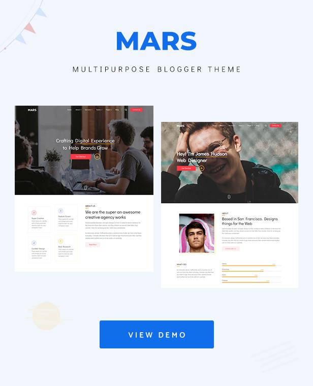 Mars - Multipurpose Portfolio Blogger Theme - 3