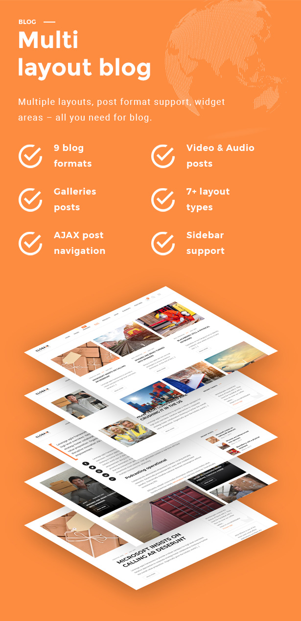 Globax - Logistics WordPress Theme + Woocommerce - 15