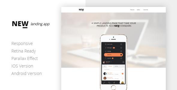 NEW Retina Ready App Landing Page