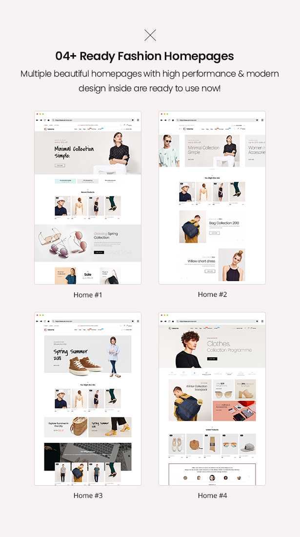 04 ready homepages Venoma Fashion WooCommerce WordPress Theme