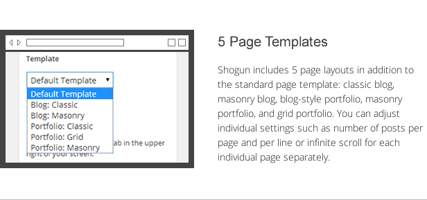 shogun features - page templates