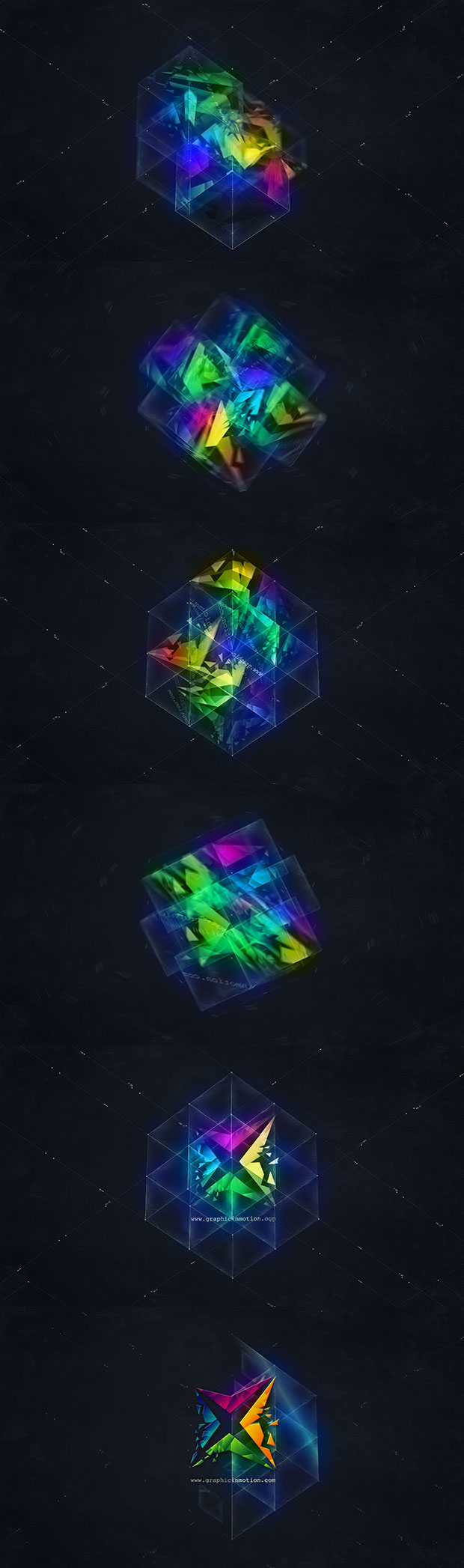 3D Magic Cube Logo Reveal - 1