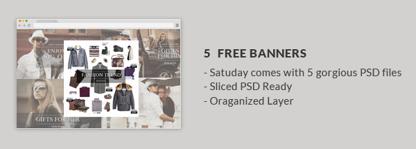 Saturday - E-Commerce Responsive Email Template - 2