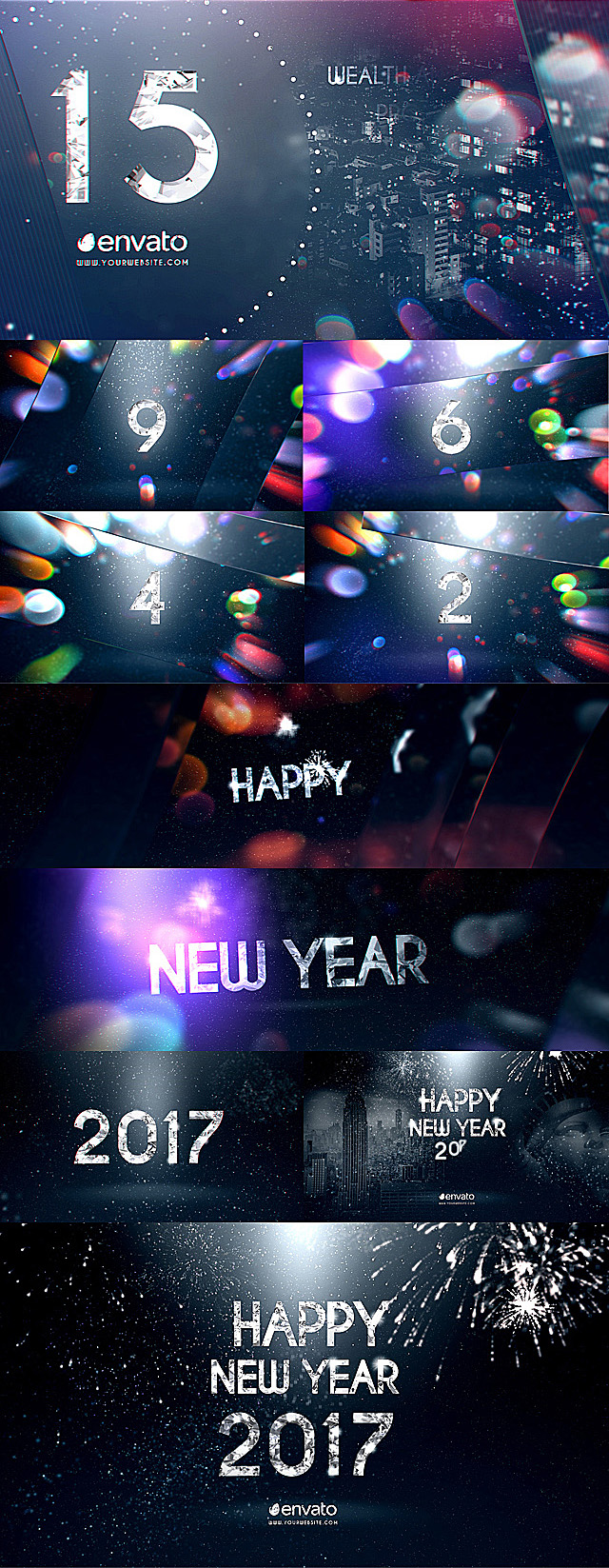 New Year Diamond Countdown By Fvs Videohive
