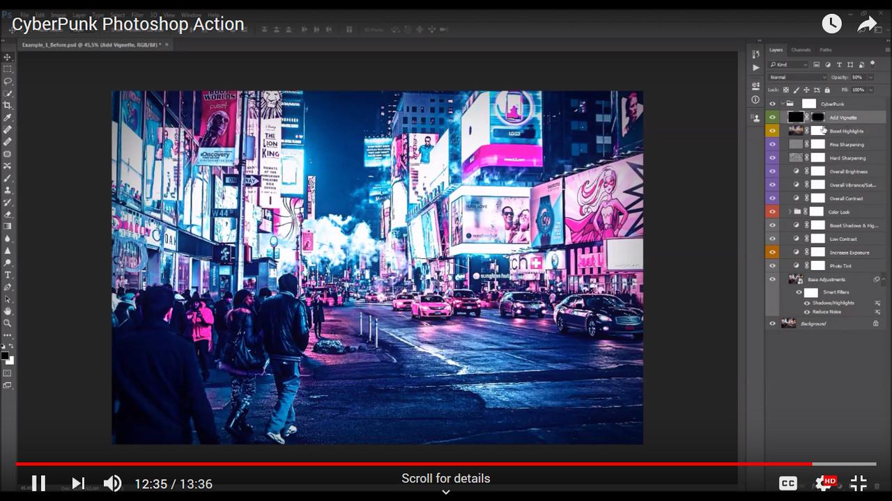 CyberPunk Photoshop Action - 1