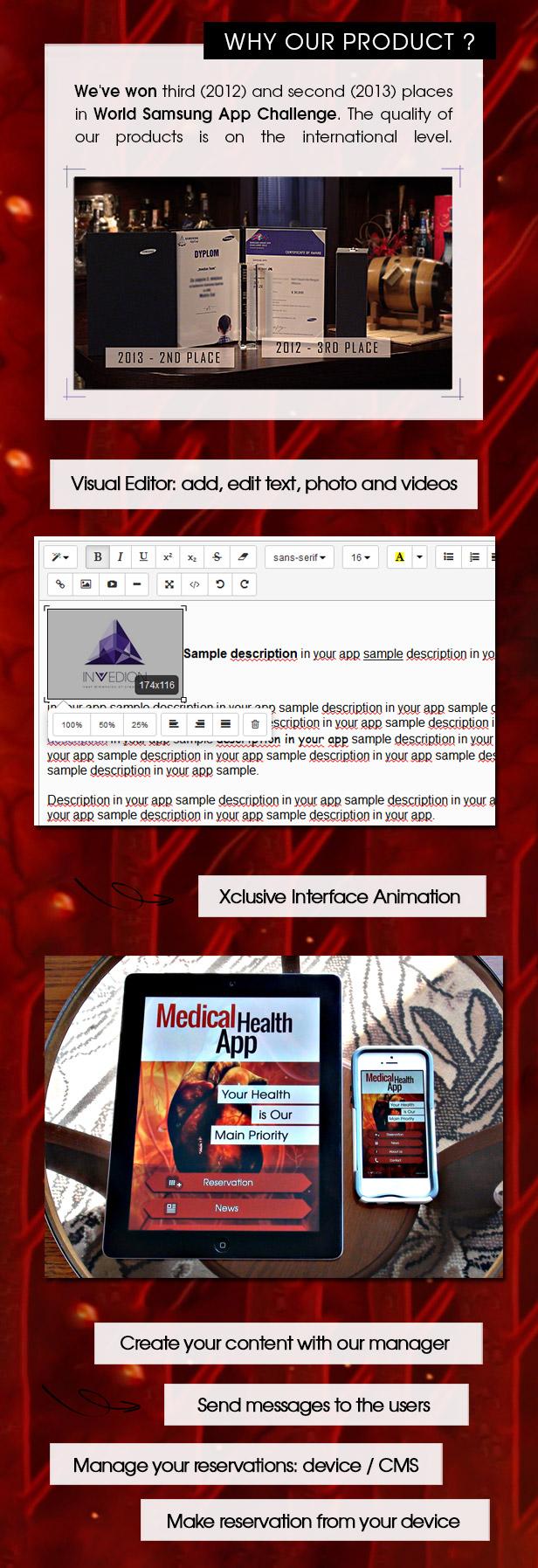 Medical Health App With CMS - iOS - 2