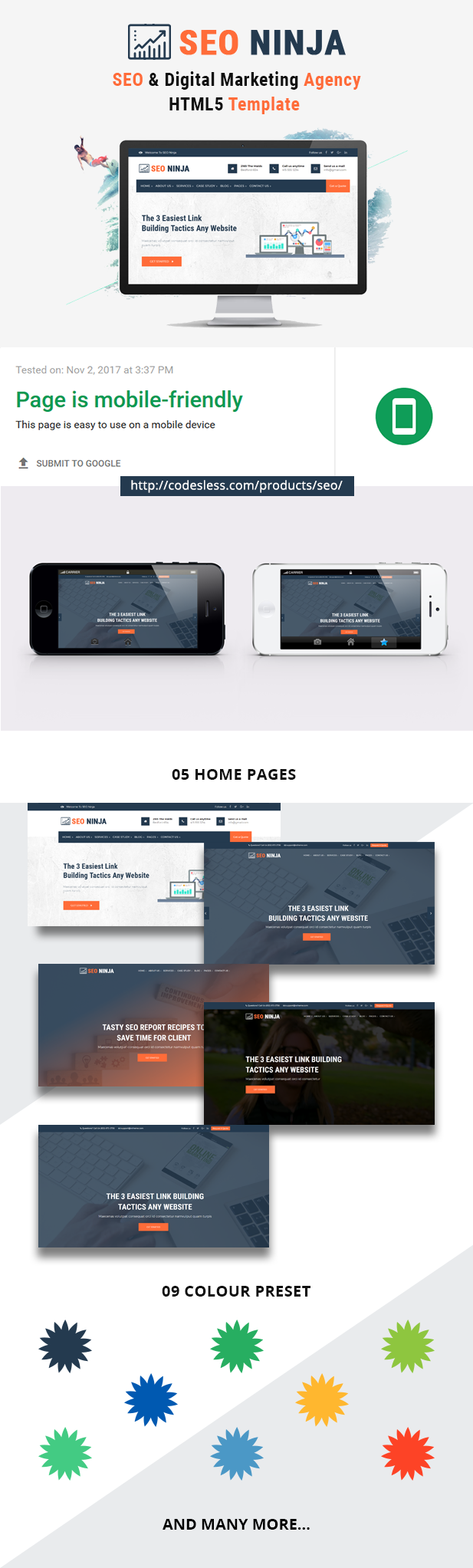SEO Ninja - SEO and Digital Marketing Agency Responsive HTML Template