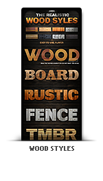 Realistic wood photoshop text effect styles