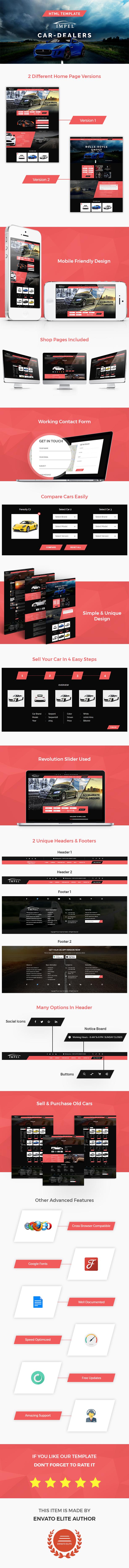 Impel Car - Car Dealer HTML Template - 1