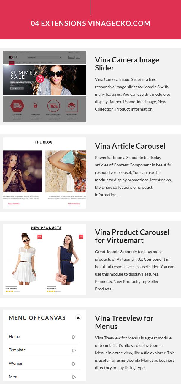 Vina Eclipo - Fashion VirtueMart Joomla Template - 14