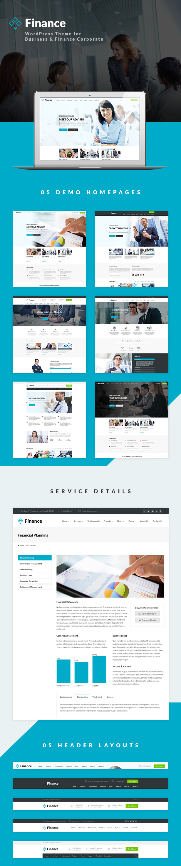 Finance - Business & Financial WordPress Theme