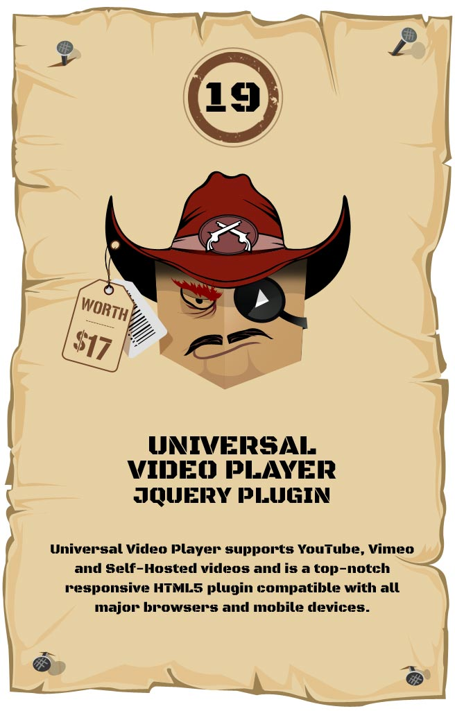 Universal Video Player - Responsive Plugin