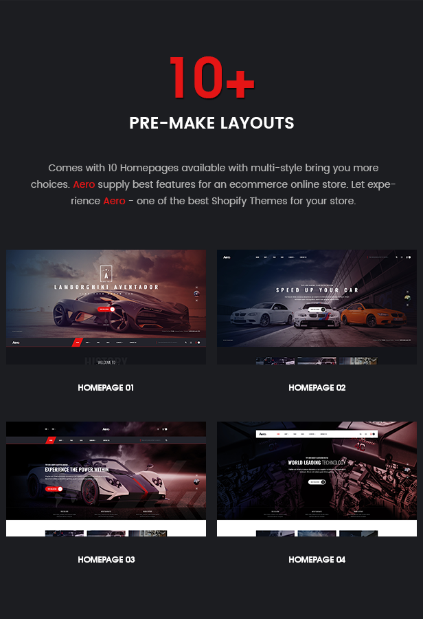 Aero Auto Parts Car Accessories Shopify Theme