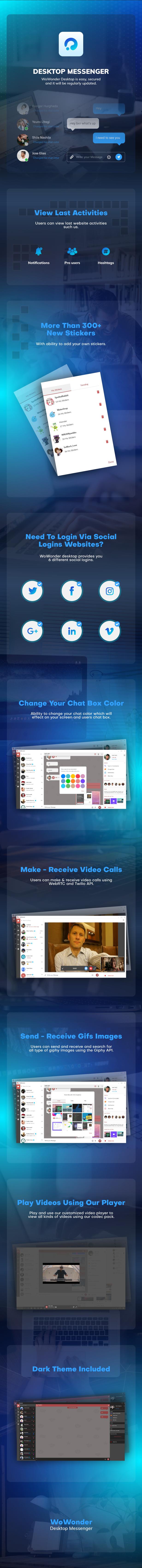WoWonder Desktop - A Windows Messenger For WoWonder Social Script - 2