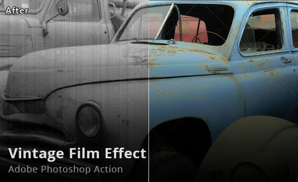 Vintage Film Effect Photoshop Action