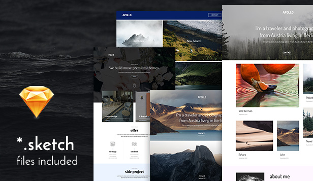 Moon responsive portfolio adobe muse templates by roseathemes sketch files adobe muse cc pronofoot35fo Images