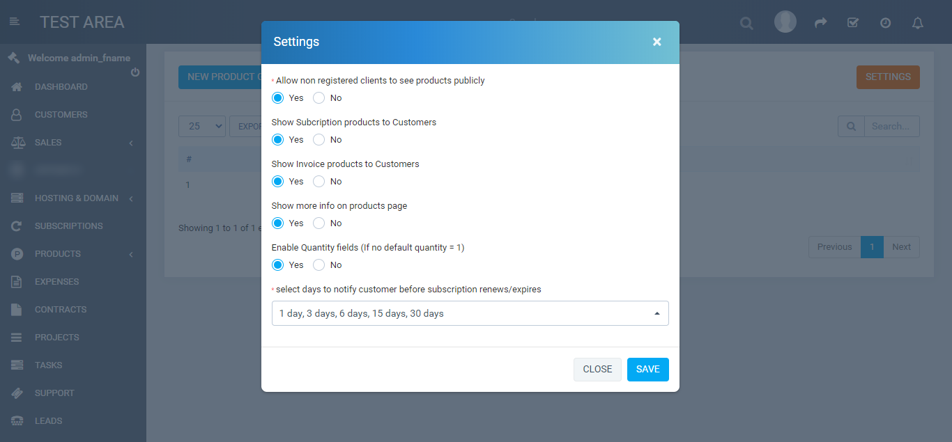 Products and services for Perfex CRM - 3