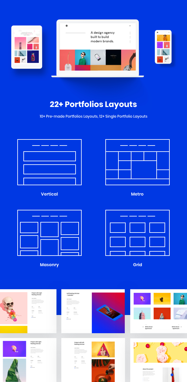 Business Agency WordPress Theme - Brook's awesome portfolios