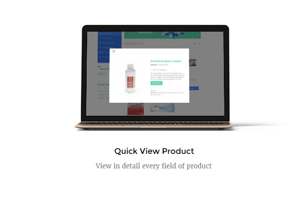 Medicare Pharmacies healthcare wordpress theme with quick view product