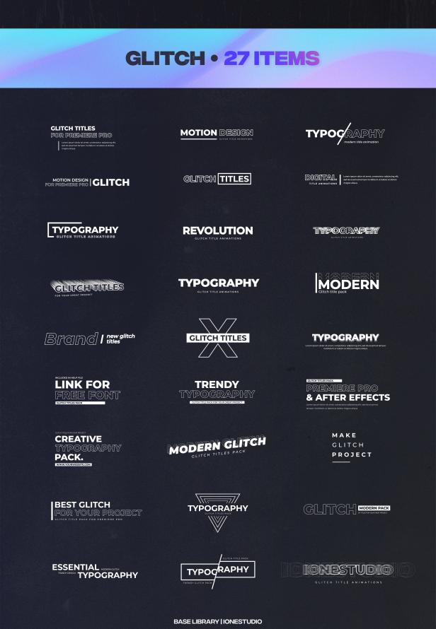 Glitch-Titles