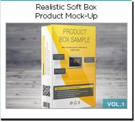 realistic soft box product mock-up