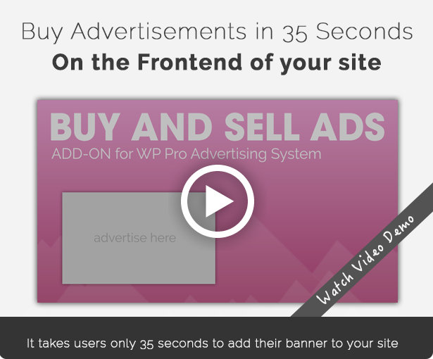 Buy advertisements in only 35 seconds