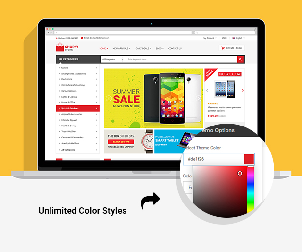 Shoppy Store - Responsive Prestashop Theme - Unilimted Colors
