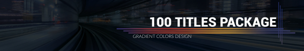 100 Titles Gradient Design Pack