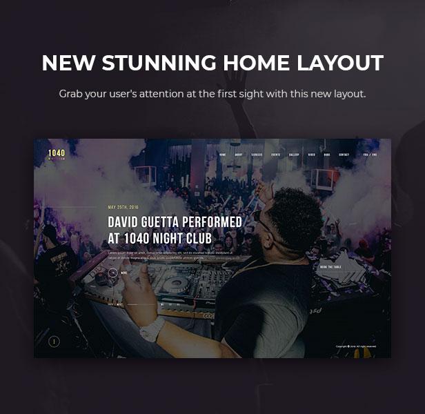 1040 Night Club - DJ, Party, Music Club WordPress Theme