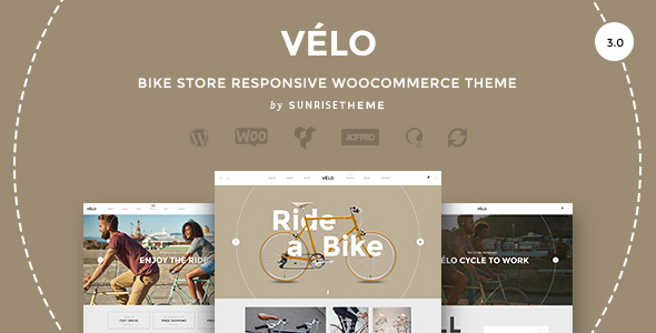velo bike shop ecommerce theme