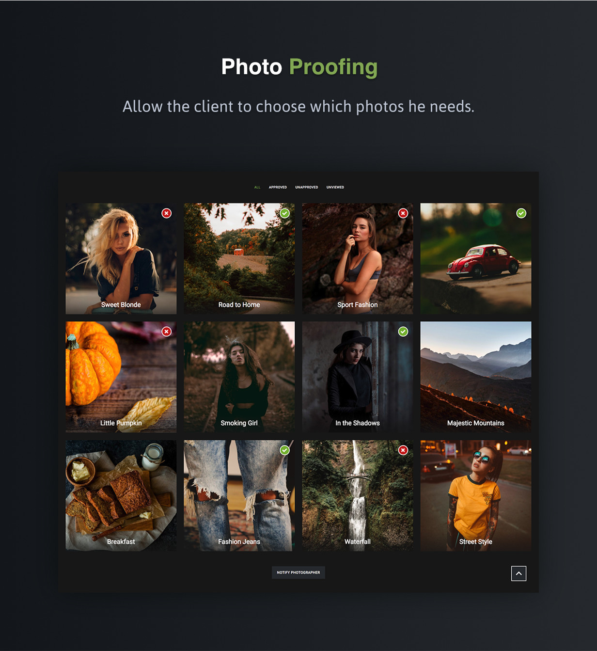 Photography Proofing