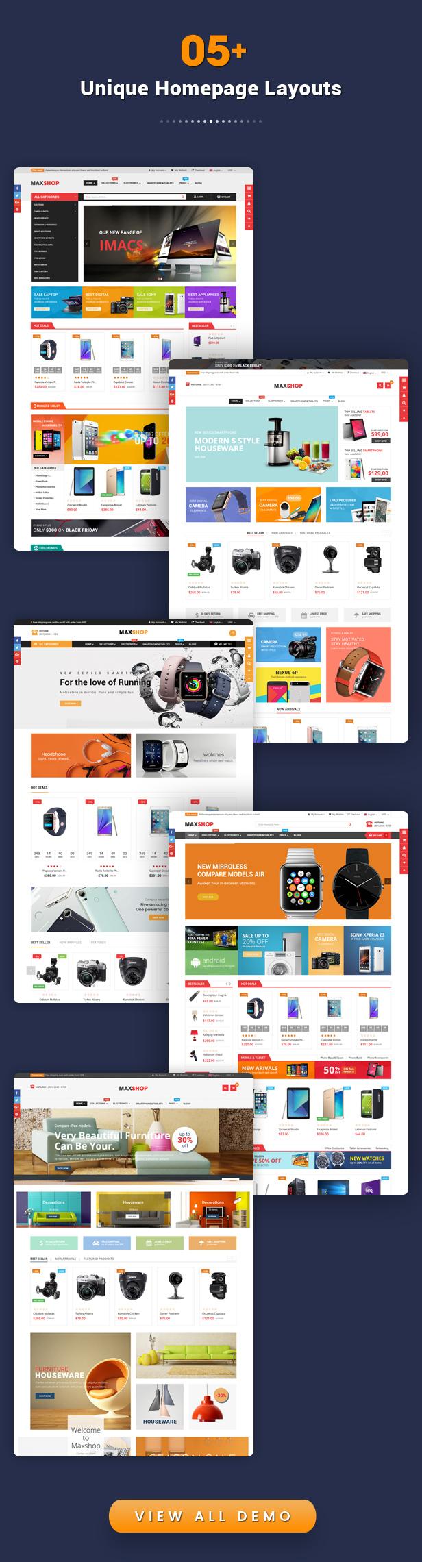 Maxshop - Best Drag & Drop Shopify Theme for Online Store