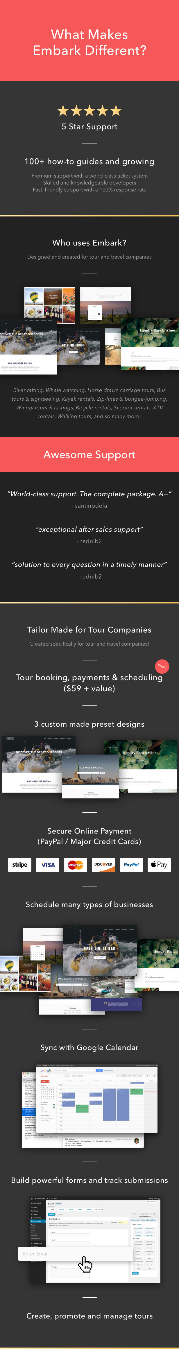 Tour Booking & Travel WordPress Theme - Embark - 2