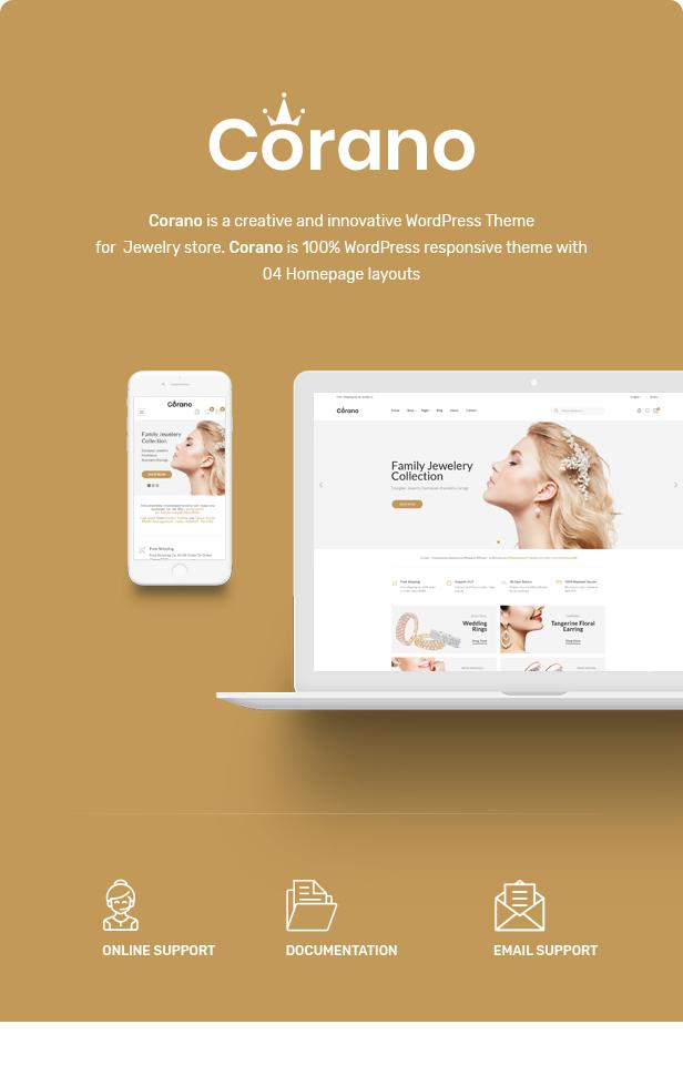 Corano - Jewellery Theme for WooCommerce WordPress 22