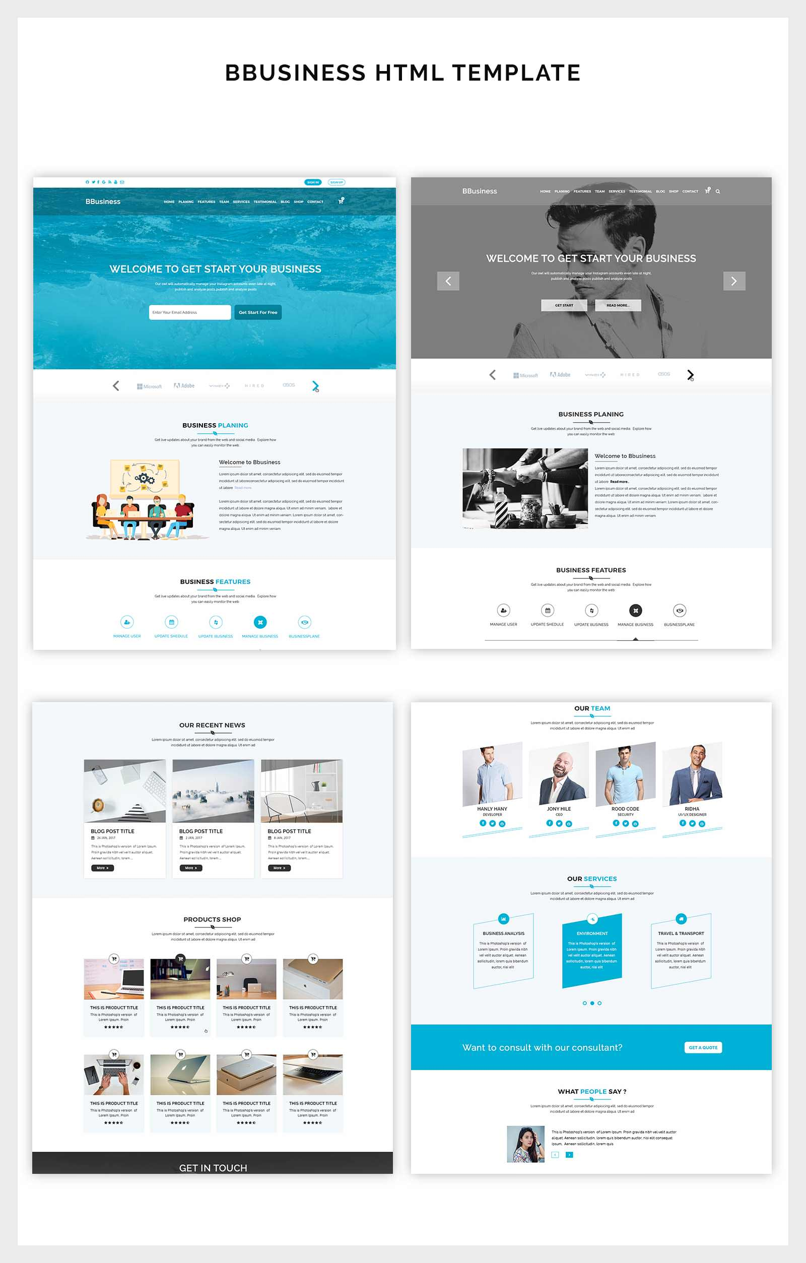 BBusiness Onepage Business Landing Page Template By ThemeAsia - Simple landing page html template