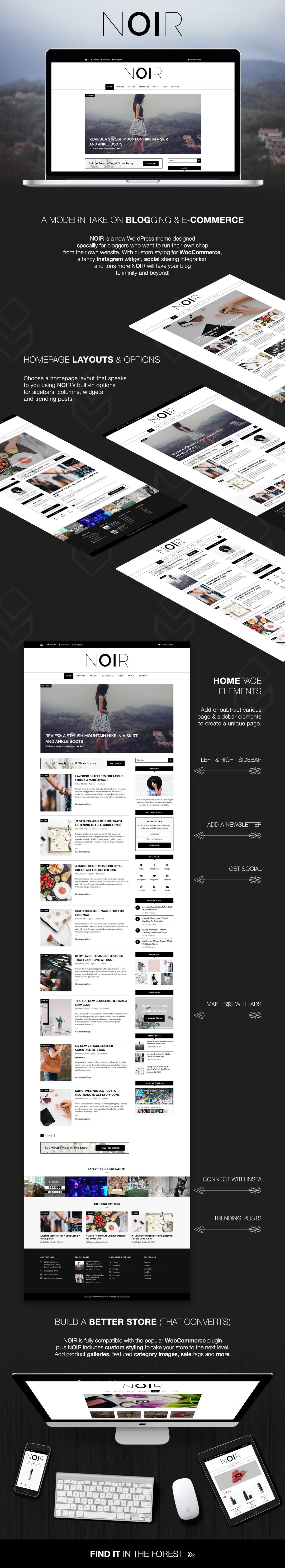 Noir WordPress Theme Features