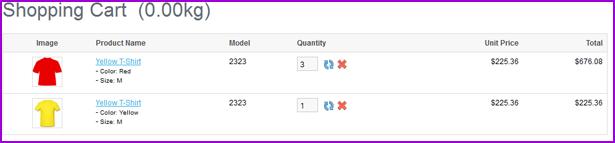 Ürün Cı enk ve OpenCart için Boyut Varyasyon - 11