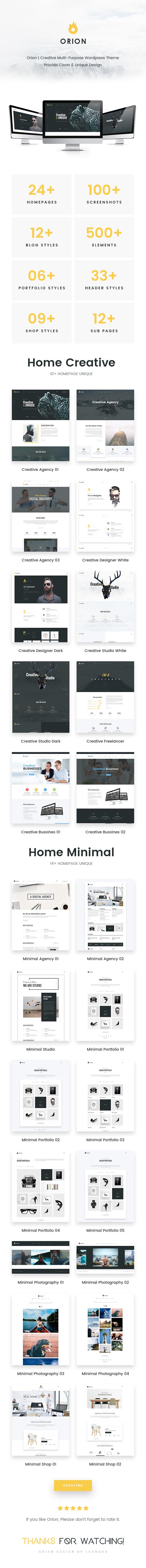 Orion - Creative Multi-Purpose WordPress Theme